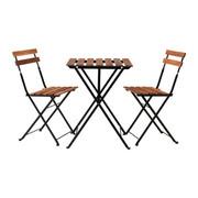 Стол и 2 стула,  акация,  сталь
