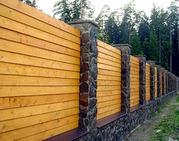 Заборы деревянные с установкой.